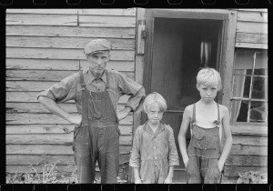Family on relief near Urbana, Ohio.2