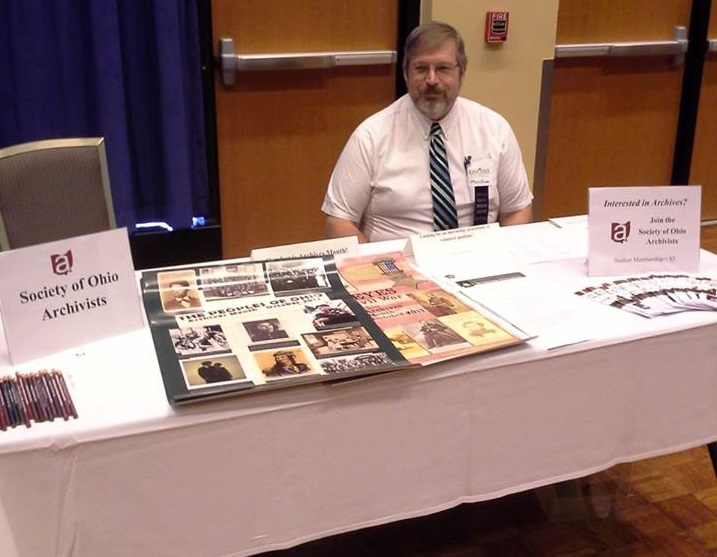Committee member Mark Bloom at the SOA table.