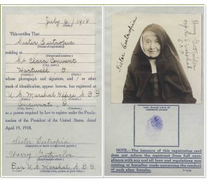 Franciscan Sisters Registration Card
