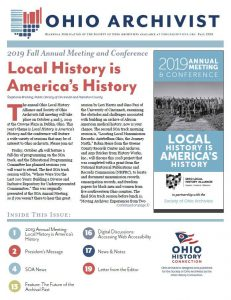 Ohio Archivist 2019 Fall cover