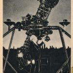 Clyde Fisher with the Zeiss planetarium projection instrument
