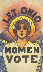 Let Ohio Women Vote poster. Courtesy of Ohio History Connection