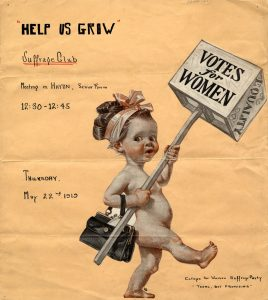 Women Equal Suffrage League Club Meeting Poster, 1919