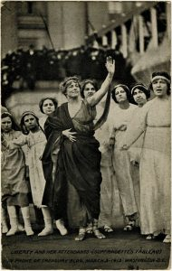 Liberty and her Attendants Suffragette's Tableau, 1913