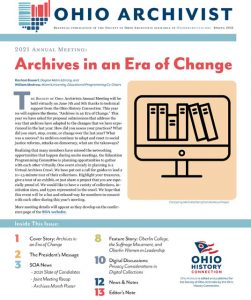 Ohio Archivist Spring 2021 Issue cover